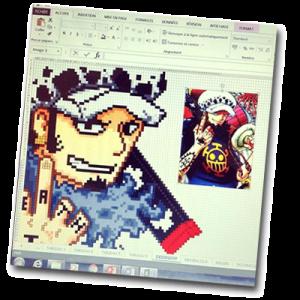 Dessin One Piece sur Excel à faire sur l'ordinateur