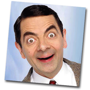 Selfie de Mister Bean joyeux