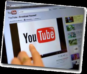 Ecran d'ordinateur qui affiche une page internet Youtube