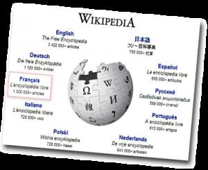 Page web wikipédia en plusieurs langages