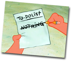 To do list nothing to do