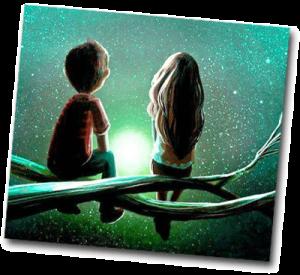 Couple qui regarde le ciel et les étoiles en pleine nuit