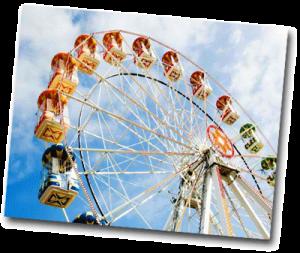 Grande roue ouverte pendant les vacances de Paques