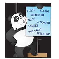 Panda et les jours de la semaine