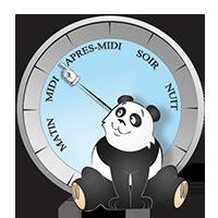 Panda entre midi et après midi
