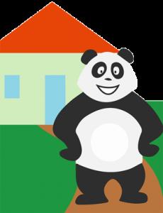 Panda qui s'ennuie à la maison