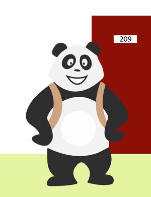 Panda à l'école