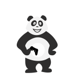 Panda adolescent qui s'ennuie et ne sait pas quoi faire