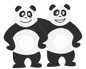 Panda avec un ami