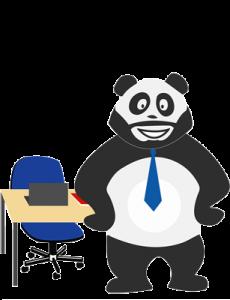 Panda qui s'ennuie au bureau