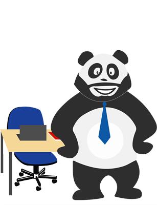 Panda au bureau