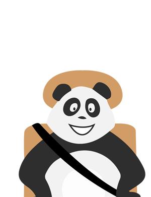 Panda en voiture