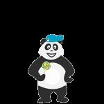 Panda enfant qui ne sait pas quoi faire et s'ennuie