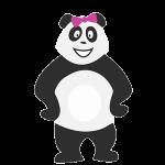 Panda fille qui s'ennuie