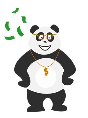 Panda qui gagne de l'argent