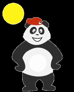 Panda qui s'ennuie pendant les grandes vacances d'été