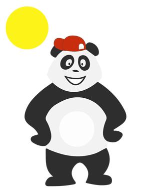 Panda qui profite des grandes vacances d'été