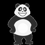 Panda heureux qui s'ennuie