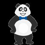 Panda garçon qui s'ennuie