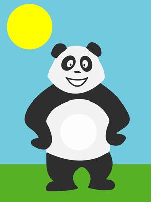Panda en pleine journée