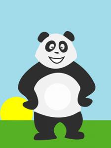 Panda qui s'ennuie le matin