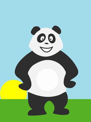 Panda de bon matin