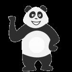 Panda motivé qui s'ennuie