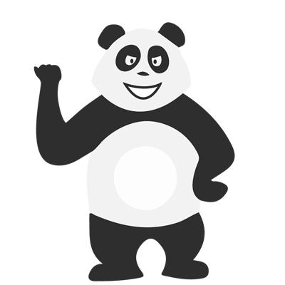 Panda motivé