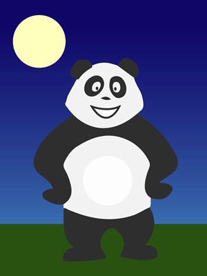 Panda dans la nuit