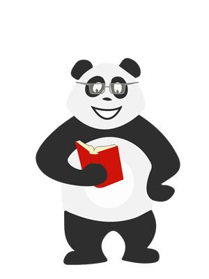 Panda qui lit un livre