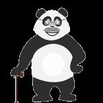 Panda senior qui s'ennuie