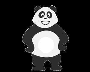 Panda tout seul qui s'ennuie