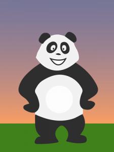 Panda qui s'ennuie le soir