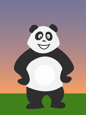 Panda le soir