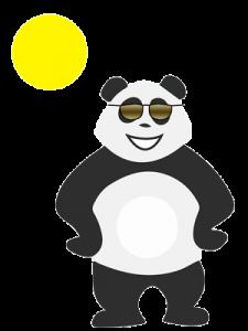 Panda qui ne sait pas quoi faire quand il fait beau