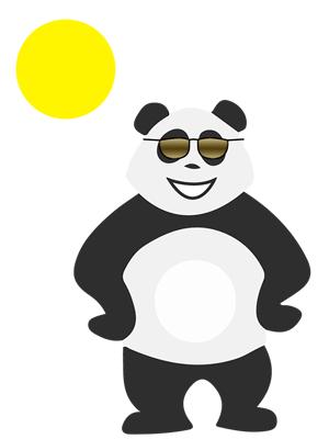 Panda sous le soleil