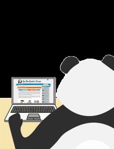 Panda qui s'ennuie sur internet