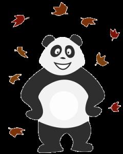 Panda qui s'ennuie pendant les vacances d'automne