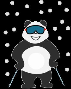 Panda qui s'ennuie pendant les vacances d'hiver