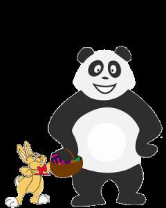 Panda qui s'ennuie pendant les vacances de Pâques