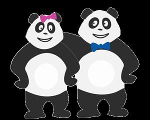 Couple de panda qui s'ennuie